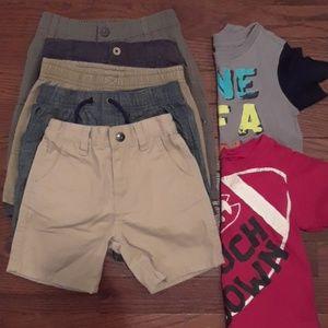 12-18m shirts & 18m shorts mixed